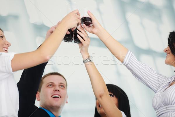Zwycięstwo okulary pić Zdjęcia stock © zurijeta