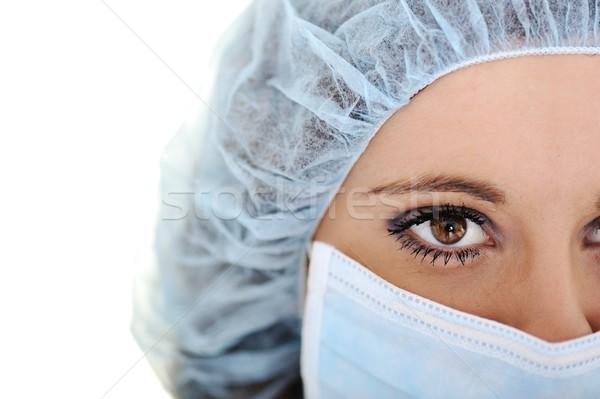 Primo piano urgente Medic occhi femminile medico Foto d'archivio © zurijeta