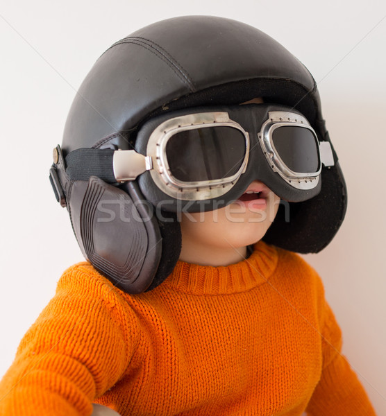 Wenig Baby Junge spielen wenig cute Stock foto © zurijeta