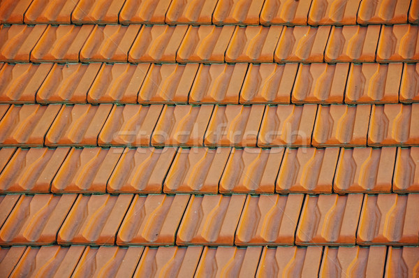 Roof pattern, red color, many pieces Stock photo © zurijeta