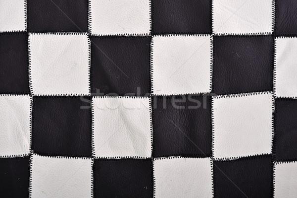 White and black leather background Stock photo © zurijeta