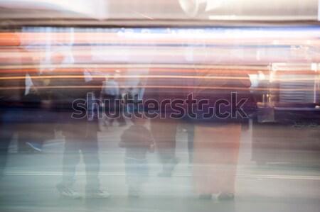Pessoas caminhada rua metrô estrada edifício Foto stock © zurijeta