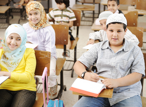 Arabic middle eastern students at school Stock photo © zurijeta