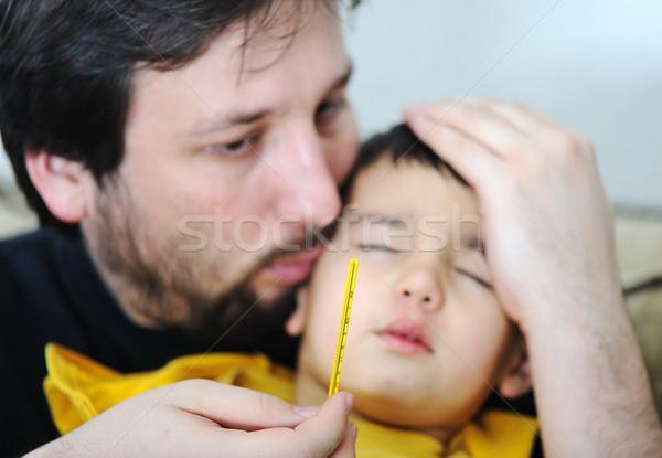 Sick child Stock photo © zurijeta