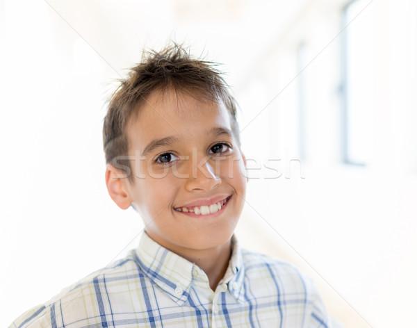 Enfants Voyage mode cheveux foule aéroport Photo stock © zurijeta