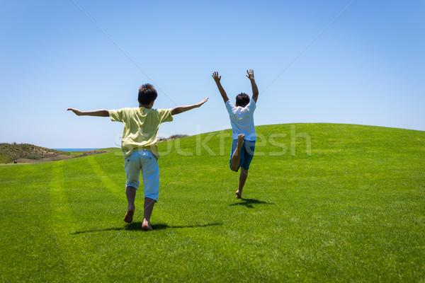 Legjobb nyári szabadság vakáció boldog nyári vakáció gyerekek Stock fotó © zurijeta