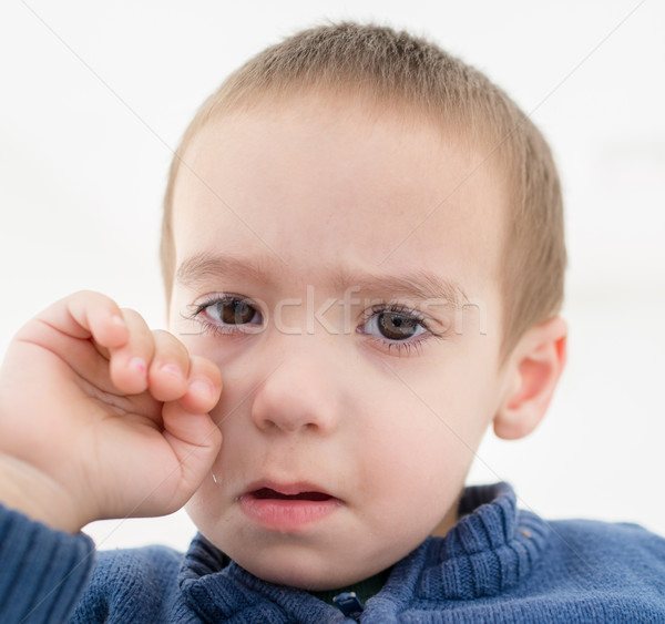 Ağlayan küçük çocuk yüz uzay erkek Stok fotoğraf © zurijeta
