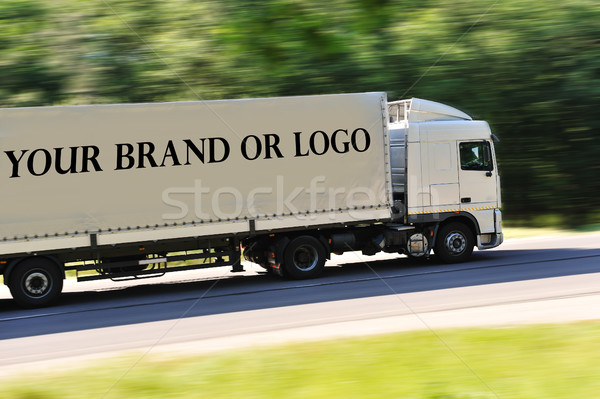 Big truck photographed from back side, no logo except great place for your logo or name of the brand Stock photo © zurijeta