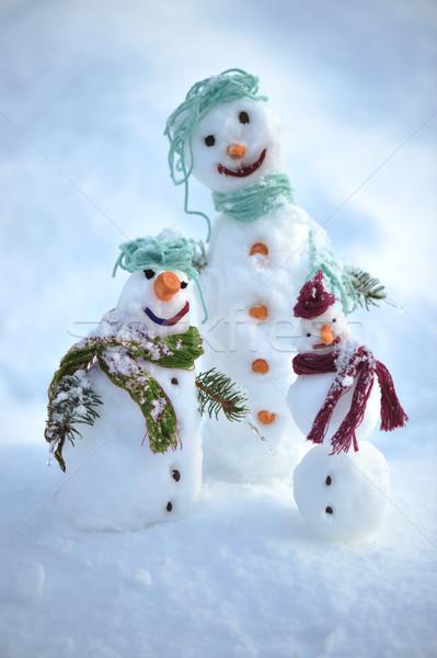 雪だるま 冬 クリスマス 家族 子 カップル ストックフォト © zurijeta