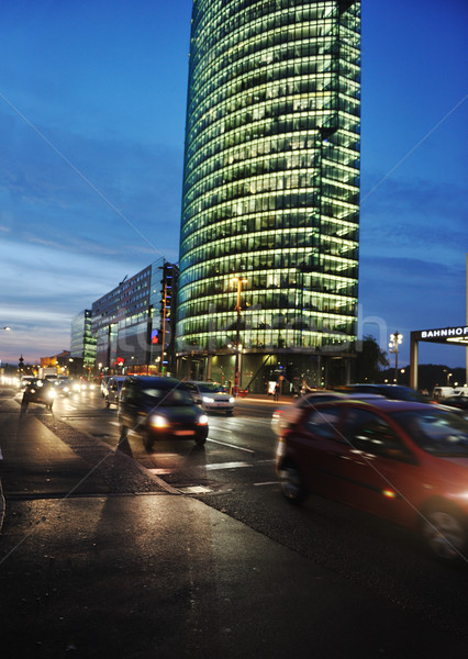 Cars motion on street in the downtown at night (blurred scene) Stock photo © zurijeta