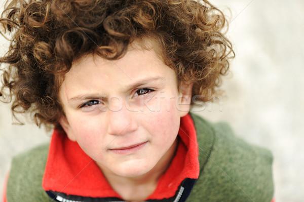 Little cute hispanic ( mixed race )  kid, portrait Stock photo © zurijeta