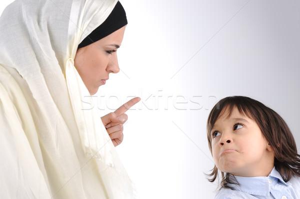 мусульманских матери сын ребенка образование мальчика Сток-фото © zurijeta