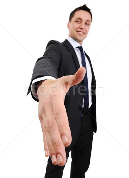 Férfi kéz shake üzlet háttér kommunikáció Stock fotó © zurijeta