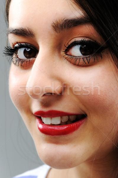красоту брюнетка женщины портрет красивой девушки Сток-фото © zurijeta