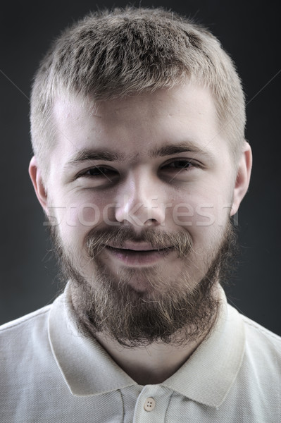 Portrait of young man with beard Stock photo © zurijeta