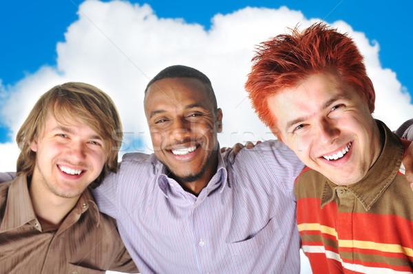 Лучшие друзья счастливым друзей студентов красный черный Сток-фото © zurijeta