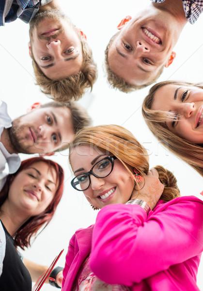 Young business people having fun Stock photo © zurijeta