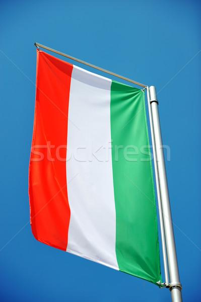 Zászló szél felhő Florence szabadtér Olaszország Stock fotó © zurijeta