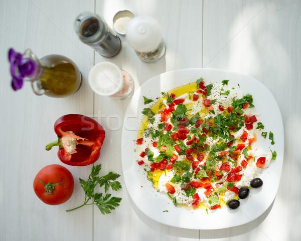 Estate cucina vegetali ingredienti Foto d'archivio © zurijeta