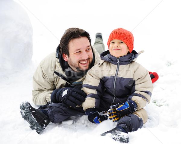 Szczęśliwy ojciec cute syn gry wraz Zdjęcia stock © zurijeta