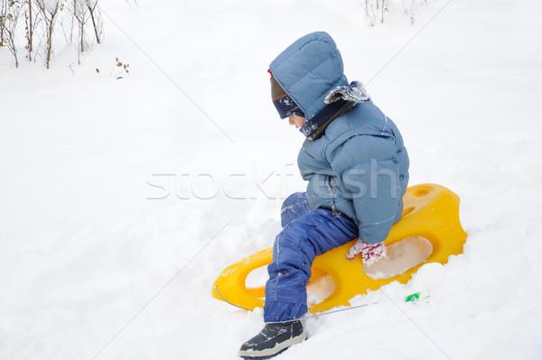 Great activity on snow, children and happiness Stock photo © zurijeta