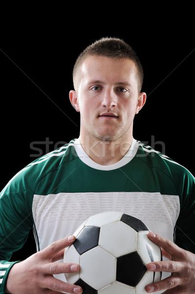 человека футбола черным человеком черный спорт Сток-фото © zurijeta