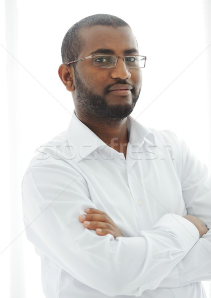 Middle Eastern Arabic black man Stock photo © zurijeta