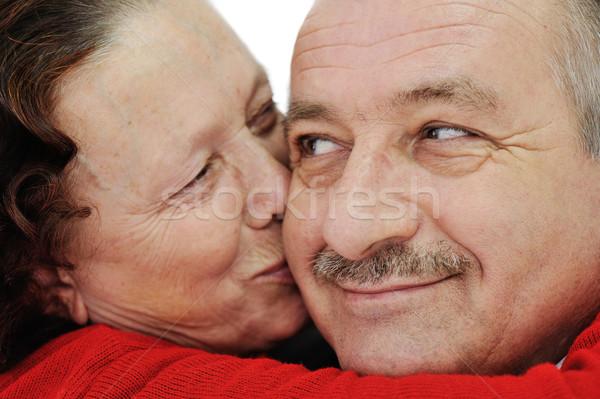 Imagem beijando bochecha marido Foto stock © zurijeta