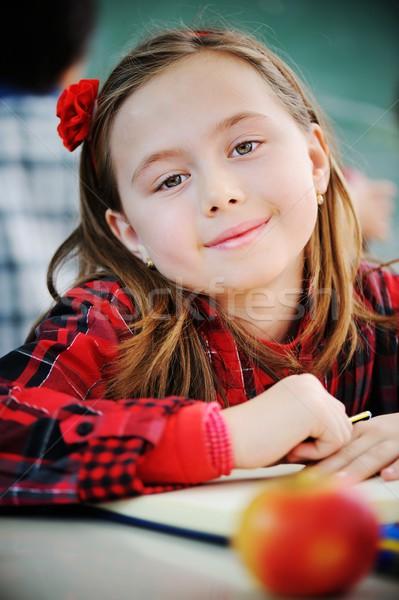 Cute klasie edukacji uśmiech Zdjęcia stock © zurijeta