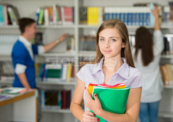 A portrait of an college student on campus Stock photo © zurijeta