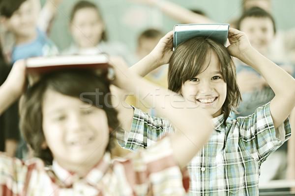 アクティブ 本当の 子供 教室 学校 レッスン ストックフォト © zurijeta