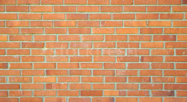Standard brick wall, orange color, good for design Stock photo © zurijeta