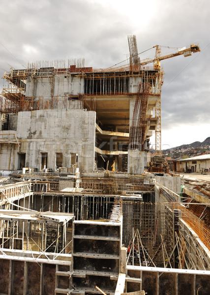 buildings under construction and cranes Stock photo © zurijeta