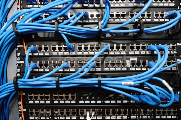 Szerver panel kábelek számítógép technológia biztonság Stock fotó © zurijeta