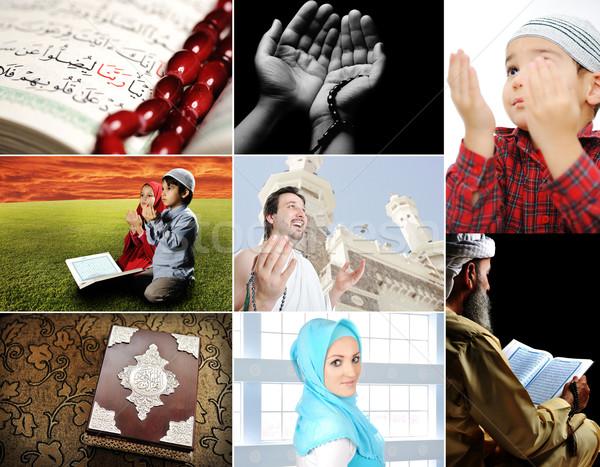 Mooie islam collectie collage verscheidene foto's Stockfoto © zurijeta