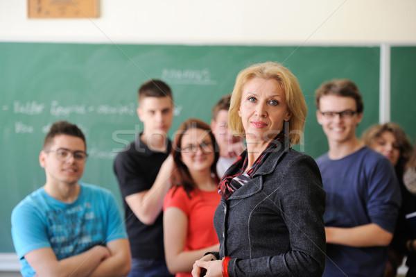 教授 学生 教室 女性 少女 背景 ストックフォト © zurijeta