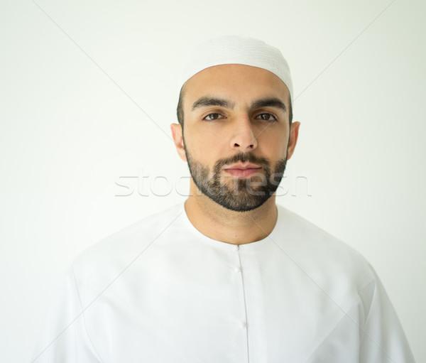 Portrait of attractive Arabic man Stock photo © zurijeta