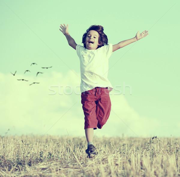 幸福 自由 少年 を実行して ストックフォト © zurijeta