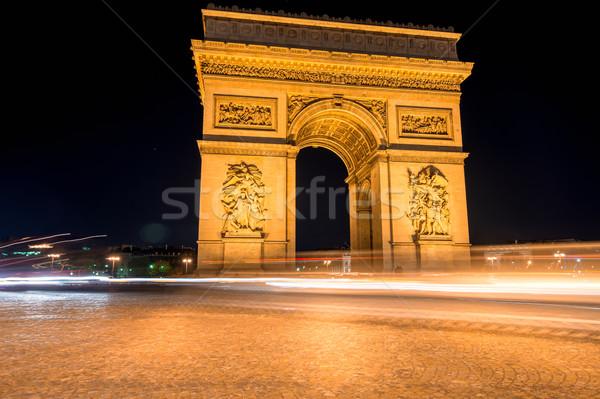 Triumphal arc at night Stock photo © zurijeta