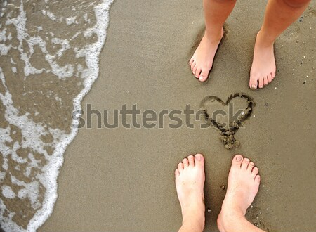 On the beach, two lovers Stock photo © zurijeta