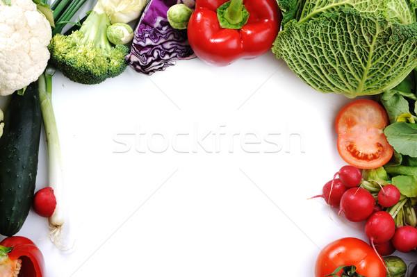 vegetables isolated on white, copy space Stock photo © zurijeta