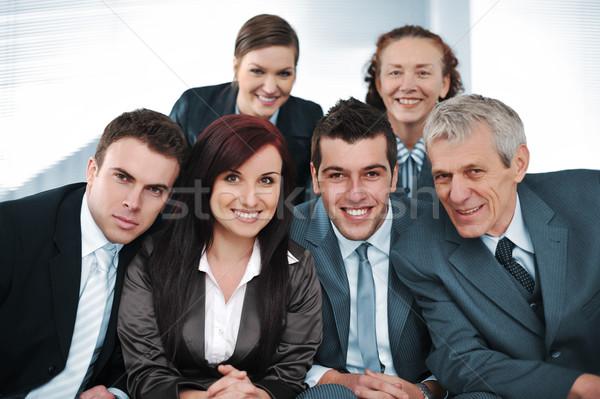 Mutlu insanlar iş ofis grup takım Stok fotoğraf © zurijeta