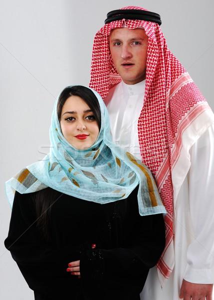 Arabic couple, wife and husband Stock photo © zurijeta