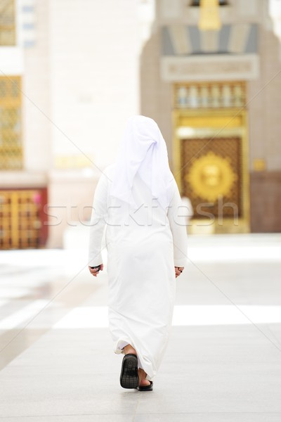 Arabic man walking Stock photo © zurijeta