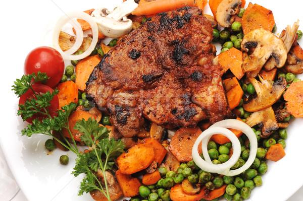 мяса овощей подготовленный служивший еды Сток-фото © zurijeta