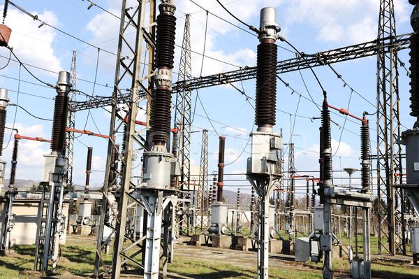 Elektrische energie hemel metaal Stockfoto © zurijeta