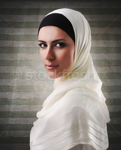 Muslim beautiful girl Stock photo © zurijeta