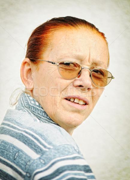 portrait of a old woman  Stock photo © zurijeta