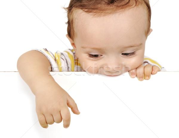 little boy stretch out the hand Stock photo © zurijeta