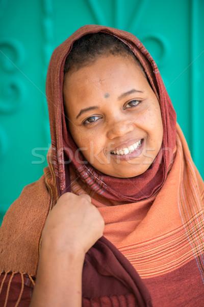 アフリカ アラビア語 少女 ムスリム 女性 笑顔 ストックフォト © zurijeta